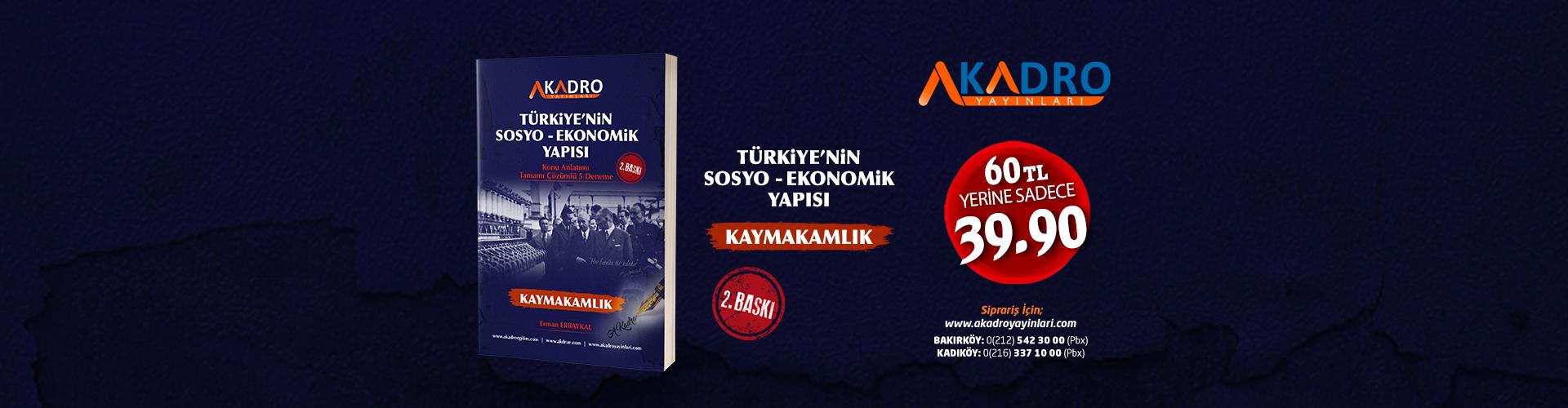 TÜRKİYENİN SOSYO EKONOMİK akadroegitim banner